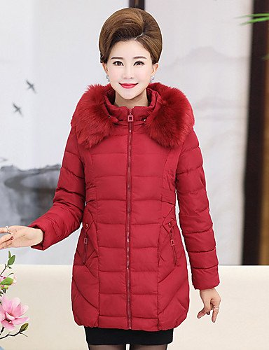 Simple Wine Out Cute XL Regular ZHUDJ Casual Polyester Solid Going Cotton Size Daily Camouflage Padded Polypropylene Cotton Coat Women'S Vintage Plus qgwRfX1