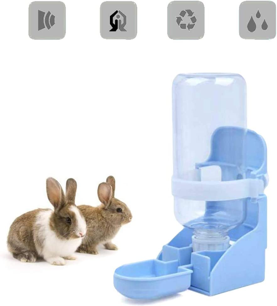 SEIS Multifunction Rabbit Water Dispenser 500ML Dog Water Bottle Hanging Cage Small Pet Foods Bowl Pet Automatic Bottle for Cats Dogs Guinea Pig Squirrel Hedgehog