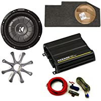 Kicker for Dodge Ram Quad/Crew Cab 02-15 10 CompVT sub in under-seat box w/grille, 300 Watt amp, and wiring kit