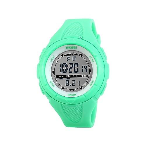 Reloj de pulsera de iWatch, sumergible a 50 m, correa de silicona, reloj
