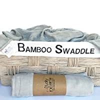 Baby Muslin Swaddle Blanket by Lolly Llama – Single Soft 100% Bamboo Swaddle ...