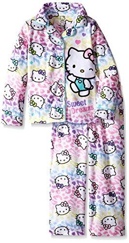 Hello Kitty Girls' Big Pajama Set, White, -