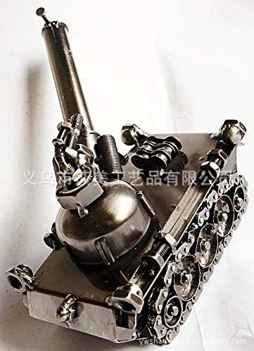 TLLDX Vintage Iron Model Handmade Classic Bronze Single Artillery Cannon Models Retro Handicraft Collectible Iron Art Sculpture Office for Christmas Xmas Home Decor Workplace Gift-DX2149