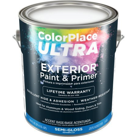 Color Place Ultra Semi Gloss Exterior Accent Base Paint And