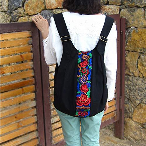 Mochila Bolso 35 Delantero 40cm Bolso Lona Original Bordado De Trasero Y 8wwqdFg