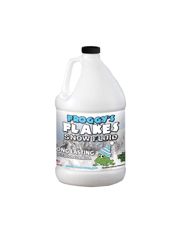 Froggys Flakes - 1 Gal - Long Lasting Snow Machine Fluid - Blizzard Formula by Froggys Fog