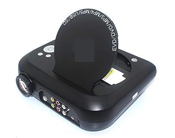 YIZHANGMulti-función Mini portátil proyector de DVD con Tarjeta de ...