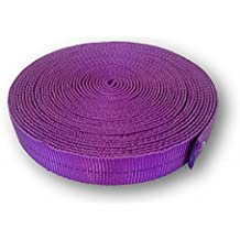 OmniProGear 4000lb MBS Tubular Webbing 1 inch x 10 yards Purple Made in USA