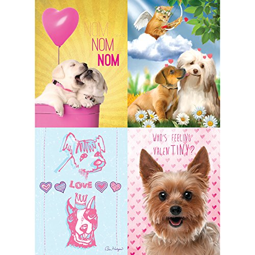 Love Assortment (Tree-Free Greetings Puppy Love Valentine's Day Card Assortment, 5 x 7 Inches, 8 Cards and Envelopes per Set (GA31659))