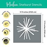 Large Starburst Wall Stencil Set – Set of 3