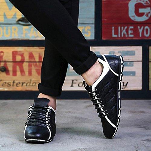 Nuovo Sneakers Uomo di Stile BYSTE Confortevole Britannico Nero Traspirante Scarpe Casuale Scarpe Stile Moda Ballerine da Scarpe Pelle aEE8tq