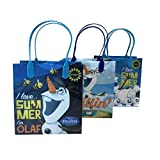 (12ct) Disney Nickelodeon Marvel Birthday Goody Gift Loot Favor Bags Party Supplies (Olaf I)