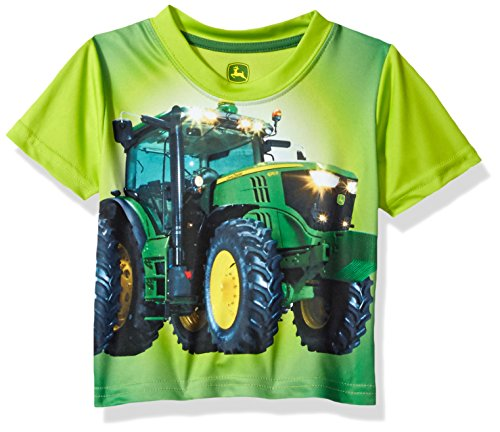 John Deere Baby Boys' Toddler Graphic Tee, Lime Green, - Boys Ranch Clothes