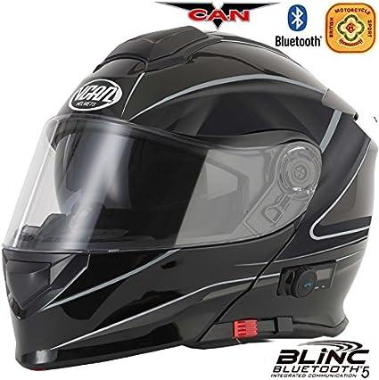 61-62cm VCAN Blinken V271 Bluetooth Klapphelme Motorradhelm Matt Schwarz Hallow XL