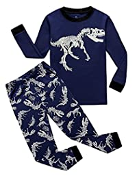 d56b01442 Babylike Pajamas Little Boys Sleepwears Set Pajamas 100% Cotton Clothes  Toddler Kid