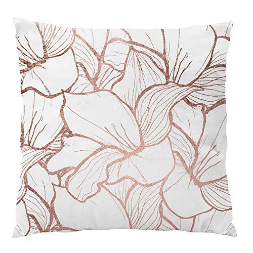 Pillowcases Protectors ❤️ Home Decor ❤️Simple and Elegant Pink Pillowcase Home Decoration Car Sofa Cushion Cover (H)