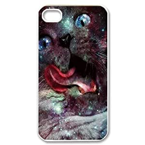 Galaxy Hipster Cat Unique Design Cover Case for Iphone 4,4S,custom case cover ygtg551240