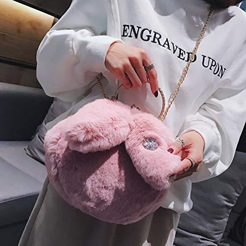 Peluche Dongyuer Sacs a La Épaule Poilu Populaire Chaîne Bandoulière À Coréenne En Main B Version Lady Paquet Belle Nouvelle Sac Une rrwBxq0E