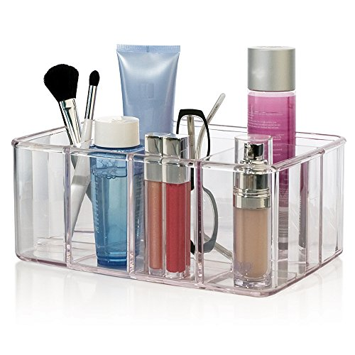 STORi Clear Plastic 5-Compartment Organizer, 10