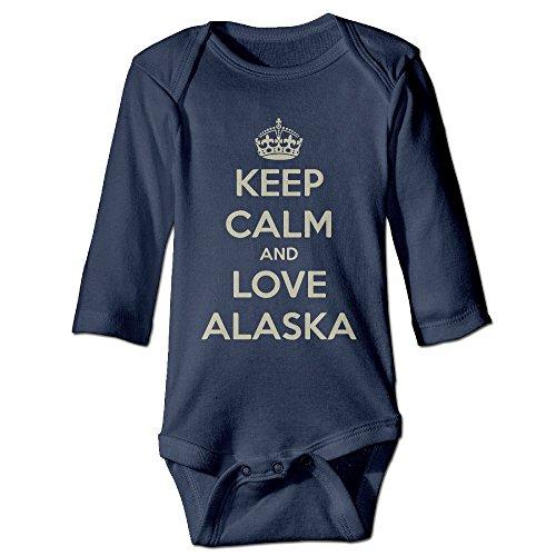 Keep Calm And Love Alaska Toddler Long Sleeve Bodysuits ()