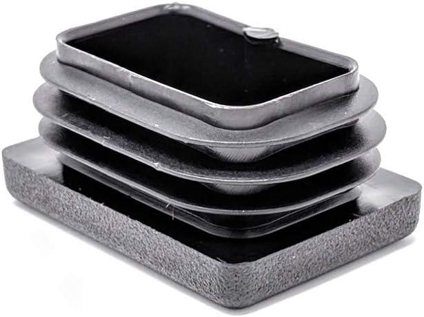 fabricadas en Alemania Tapas para inserciones cuadradas y rectangulares acanaladas de pl/ástico negro 24 unidades