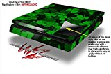 St Patricks Clover Confetti - Decal Style Skin fits Sony PlayStation 4 Slim Gaming Console
