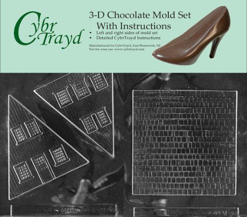 A Frame House Kits - Cybrtrayd M086AB Chocolate Candy Mold, Includes 3D Chocolate Molds Instructions and 2-Mold Kit, A Frame House