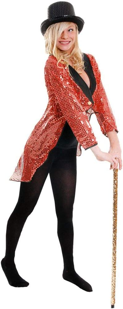 I LOVE FANCY DRESS LTD Chaqueta DE Lentejuela DE Color Rojo para Adultos Unisexo Accesorio Disfraces (S)