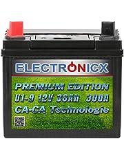 Electronicx U1 (9) 30AH 300A (EN) Green Power batterij voor grasmaaiers, tuingereedschap, startaccu, onderhoudsvrij, calciumtechnologie