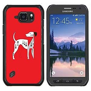 LECELL--Funda protectora / Cubierta / Piel For Samsung Galaxy S6Active Active G890A -- El Dálmatas --