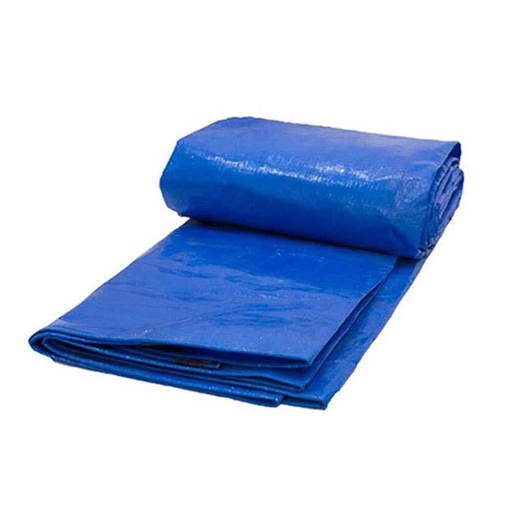 ZXWDIAN en Plein air Film recouvert de Papier imperméable à l'eau de Pluie bÂche Double Bleu Pare-Soleil Pluie Double bÂche en Plastique d'agneau Couverture imperméable Poncho  8.8X8.8m