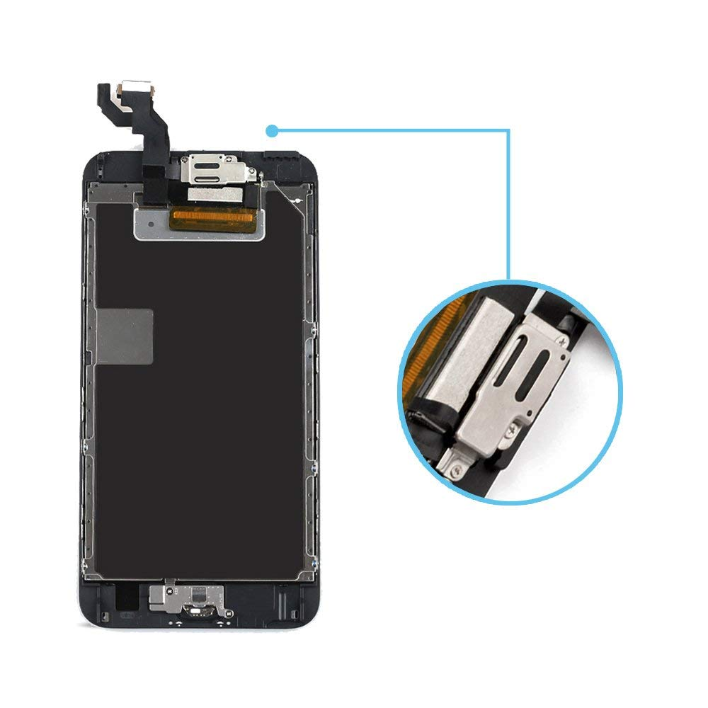 + Tool 5.5 inches Black Yodoit for iPhone 6s Plus LCD Display and Digitizer Assembly Glass Touch Screen Replacement with Frame Spare Parts Front Camera, Sensor Flex, Home Button, Earpiece Speaker