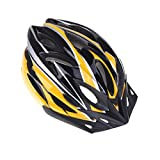Mountain Road Bicycle Helmets Ultralight 18 Vents Cycling Helmet with Visor (Yellow)