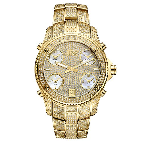 JBW Men's Jet Setter Limited Edition 5.50 ctw Gold Five Time Zone Diamond Watch