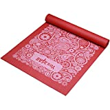 Cheap Yes4All Premium PVC Exercise Yoga Mat Printed Design – Printed Yoga Mat Thin Non Slip for Workout, Pilates – Yoga Floor Mat with Design (5mm, Paisley Punch Red)