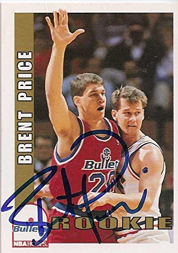 Brent Price autographed Basketball Card (Washington Bullets) 1993 Hoops #480 - Autographed Basketball -