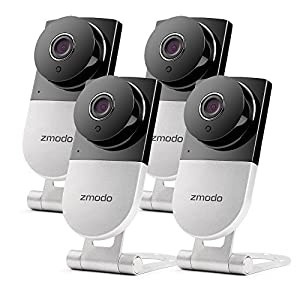 Zmodo 720p HD Wireless Home Surveillance Camera System - 4 Cameras with Night Vision and Two-way Audio from Zmodo