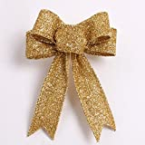 Gotd Halloween Decorations Halloween Or Christmas Tree Ornament Christmas Ornament Bowknot Festival Supplie (Gold)