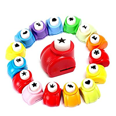 LoveInUSA 10Pcs Paper Punch Scrapbooking Punches Handmade Hole Puncher Hand Press Shapes Craft Printing Shaper Puncher Random Shape