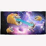 Taco Cat Laserbeam Sublimated Plush Beach Towel
