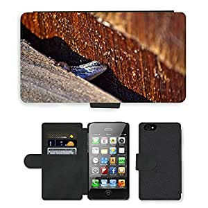 hello-mobile PU LEATHER case coque housse smartphone Flip bag Cover protection // M00136111 Lagarto Reptil Reptil Macro // Apple iPhone 4 4S 4G