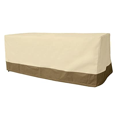 Vanteriam Outdoor Rectangular/Oval Patio Dining Table Cover-Waterproof Large Outdoor Patio Furniture Cover for Dining Table : Garden & Outdoor