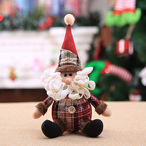 Hot Sale!DEESEE(TM)Christmas Ornaments Gift Santa Claus Snowman Tree Toy Doll Hang Decorations (B)
