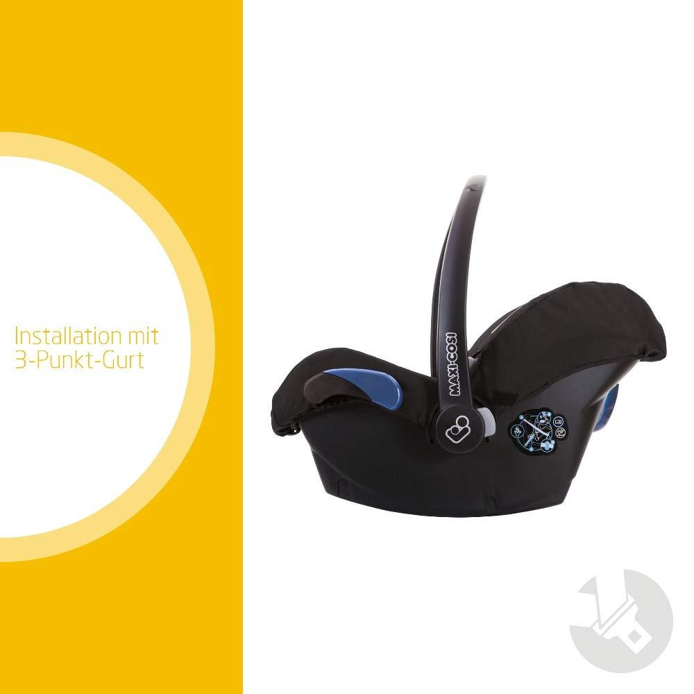 federleichter Baby-Autositz Gruppe 0+ 12 Monate Black Raven nutzbar ab der Geburt bis ca Maxi-Cosi Citi Babyschale schwarz 0-13 kg