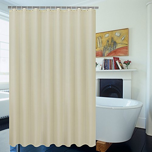 Ufriday Eco Friendly Shower Curtain Poly Fabric Water Repellent With Reinforced Top Holes Everyday Liner Mildew FreeUse Standalone