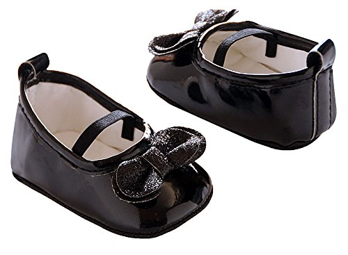 Carter's Little Girls' Black Patent Mary Jane Crib Shoes (3-6 (Patent Crib Shoes)