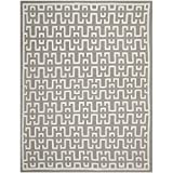 Safavieh Dhurries Collection DHU621B Hand Woven Soft Grey and Ivory Premium Wool Area Rug (6′ x 9′)