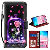 Wallet Case Compatible for Samsung Galaxy S10 (2019) (6.1') Butterfly Angel Beauty and The Beast