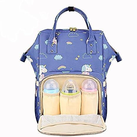 OYHBV Bolsas para el cuidado del bebé Unicornio de maternidad Moda Unicornio Mochila Mochila de pañales Organizador del carrito de viaje Bolsa de lactancia ...