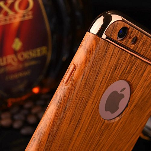 SRY-Mobile Phone Cases & Covers Textura de madera 3 en 1 Anti-huella digital a prueba de golpes electrochapa la caja dura de la PC del marco para el iPhone 7 más ( Color : Red , Size : IPhone 7 Plus ) Brown